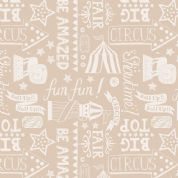 Lewis & Irene Vintage Circus - 4585 - Circus Montage in Cream/Beige - A142.2 - Cotton Fabric